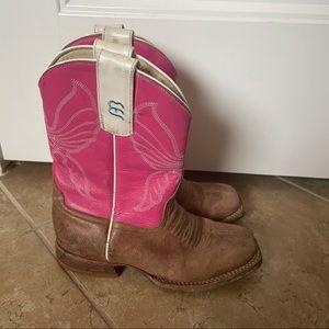Anderson Bean - pink horsepower butterfly boots